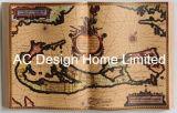 قديم [هيستري] [وورلد مب] [بو] [لثر/مدف] خشبيّة كتاب شكل جدار فنية