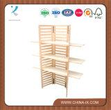 パネルの木の小売りの棚付けの単位を折る3つの層カスタマイズされる