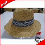 Chapéu de papel das mulheres de Sun do Fedora de Panamá da palha