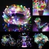 Licht van de Draad van het Koper van het sterrige Koord het Lichte van het Koord/Zilveren LEIDENE van de Draad met Op batterijen