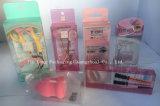 Cadre cosmétique clair fait sur commande d'empaquetage en plastique de l'impression PP/PVC/Pet