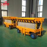 Capacité de charge de 500kg 4-18m de hauteur de levage hydraulique manuel approuvé Ce plate-forme élévatrice mobile de type ciseaux avec des prix bon marché