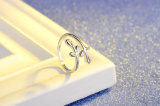 형식 백색 구리 수지 반지 여자를 위한 최신 한국 작풍 반지