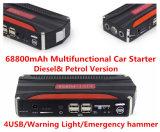 69800mAh carregador da bateria auxiliar de banco de alimentação do contactor multifunção 12v Car Jump Starter