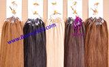 100% virgem Remy de cabelo humano Micro Ring Extensão de cabelo, cordão de extensão de cabelos micro, Extensão de cabelo de sonho, alta qualidade,Preço vantajoso, Ordem personalizada disponível