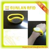 PVC/ABS elegante /Paper /Silicone Rubber Wristband con FM1108 Chips