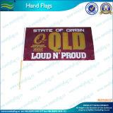 Hölzerne Pole-nationale Handeinfluß-Handmarkierungsfahne (M-NF10F02004)