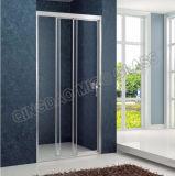 Стекло ванной комнаты гарантии продолжительности жизни Tempered сползая дверь ливня
