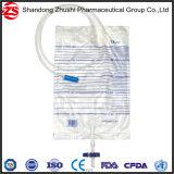 2000ml de beschikbare Zak van de Urine met trekkracht-Duw Zak van de Inzameling van de Urine van de Klep de Volwassen met Ce ISO