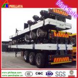 40 pieds à plat pont triple lit semi-remorque de camion de conteneurs pour le transport et de 20' 40' conteneur