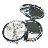 Nuevo estilo de doble cara de doble costura plegable espejo de la PU