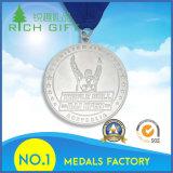 Medaglia su ordinazione d'argento antica del metallo di sport di ramatura