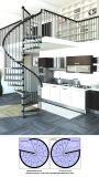 Festes Holz-verwendeter gerader Treppenhaus-Gleitschutzentwurf mit Metallgeländer