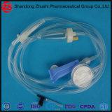Conjunto de infusão descartáveis de alta qualidade com filtro de precisão