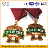 2017リボンが付いているカスタム高品質の金または銀の青銅色のスポーツメダル