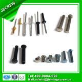 Diferentes tipos de acero inoxidable latón sólido remache DIN 7337 Aluminio ciego pop remache