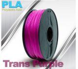 Filament 1.75mm de PLA de noir d'impression des avantages compétitifs 3D