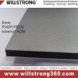6mm matière composite en aluminium extérieure Acm de PVDF ou de Feve