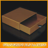 Boîte en carton de forme de tiroir papier pour cadeau (FLO-go027)
