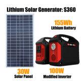 휴대용 발전소 155wh 태양 발전기 리튬 이온 중합체 건전지
