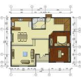 Vários ambientes de Layout de aço amigável Villa Casa para viver Home