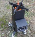 Il legno di uso della stufa del riscaldamento del ferro da ottenere caldo