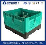 Recipiente plástico de dobramento resistente da pálete da higiene grande para o armazenamento