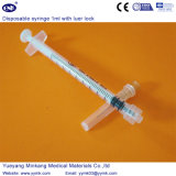 Luer 자물쇠 (ENK-DS-070)를 가진 의학 처분할 수 있는 플라스틱 주사통 1ml