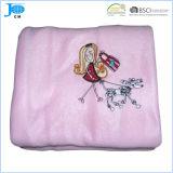 100% полиэстер флис, Coral руно Рекламные вышивки Одеяло 2014