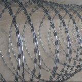 Горяч-Окунутый гальванизированный провод бритвы с зажимом