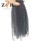 高品質のインドの毛のバージンのRemyのねじれたカールの毛は編む