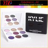 El 9 de sombras en polvo prensado de la paleta de sombra de ojos maquillaje