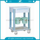 AG-CT002 con un cajón de material ABS Hospital carro