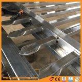 Recinzione superiore del germoglio d'acciaio ornamentale con la polvere nera ricoperta