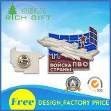 Il blocco per grafici promozionale del metallo 3D che trova i distintivi con progetta la bandierina/eroe per il cliente eccellente