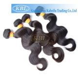 cabelo humano indiano da onda 100% do corpo 3AAA
