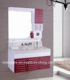 Module de salle de bains fixé au mur de luxe de PVC/vanité moderne de salle de bains