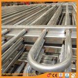 Recinzione d'acciaio rivestita del comitato superiore del ciclo della polvere di Gavanized