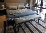 Base di cuoio di legno della mobilia moderna della camera da letto di Divany doppia (A-B37)