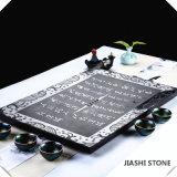 Het zwarte Theestel van de Steen van de Lei van het Graniet Mooie