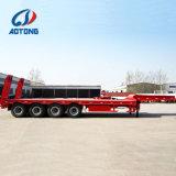 Alargou Pesado 2eixo 4 linhas Lowbed reboque/caminhão reboques para venda
