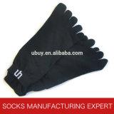 Zehe-Sport-Socke der Männer Baumwoll