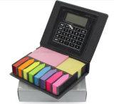 Pista de nota de múltiples funciones de cuero de la PU con el calendario y la calculadora