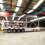 La Chine Fabrication Heavy Duty 4 faible de l'essieu lit semi-remorque