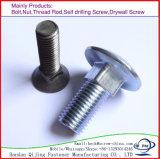 Wagen-Schraube galvanisiert ringsum quadratischen Stutzen-Hauptkohlenstoffstahl DIN603-1981