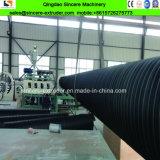 Ligne ondulée de enroulement d'extrusion de pipe d'eaux d'égout renforcée par courroie en acier de HDPE