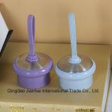 Bouteille d'eau en verre colorée avec la boucle de silicagel et le module simple de cadre