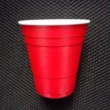 10oz 285ml 처분할 수 있는 PS 플라스틱 빨강 솔로 당 컵