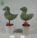 piante verdi artificiali del PE di 0.38m per la decorazione - uccello S2 dei bonsai