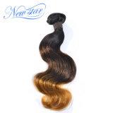Волосы новой объемной волны волос девственницы Ombre звезды бразильской белокурые